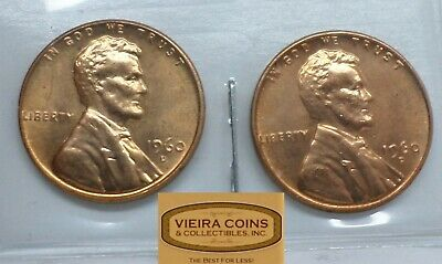 1960 D Large Date and Small Date, Beautiful AU / MS Lincoln Cent - #B13775
