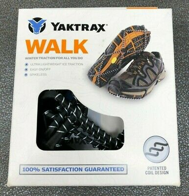 08615 Black YAKTRAX Rubber Harness Steel Coils StrapOn Cleats,Coil,14+,PR