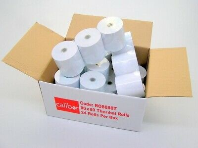 PREMIUM THERMAL PAPER 80X80 24 ROLLS/BOX (eBay Special - Limited time)