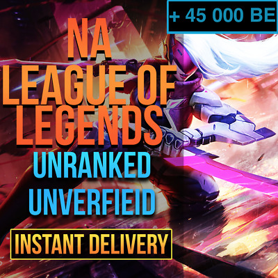 NA League Of Legends Account LOL NA Smurf 30,000 BE IP Unranked Level 30