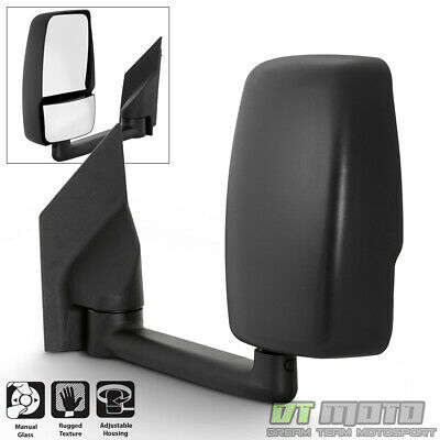 [Left,Driver Side] 2003-2017 Chevy Express/GMC Savana Van Manual Tow Side Mirror
