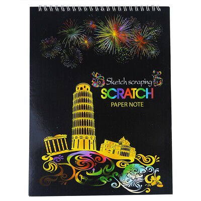 1pce Scratch Paper Book A4 with Ring Bound Spine at Top Perfect for Traveling