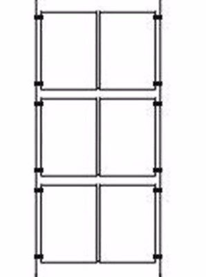 2x3 A4 WIRE CABLE KITS RETAIL SHOP WINDOW DISPLAY PERSPEX ACRYLIC POSTER HOLDERS