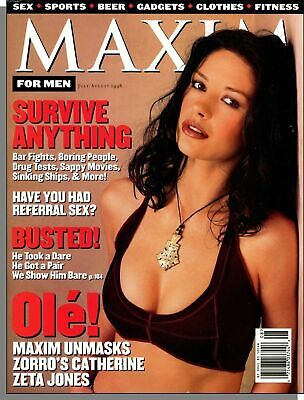 MAXIM Magazine #10 (but labeled #11) July/August 1998 Catherine Zeta Jones Zorro