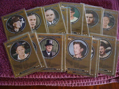 2007 Topps Distinguished Service Inserts Army Navy Presidents Vets $1 Each