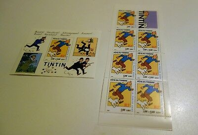 Bloc Tintin  + Carnet  7 Timbres - Annee 2000