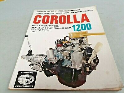 1973 TOYOTA COROLLA 1200 Workshop Manual - 3K Engine