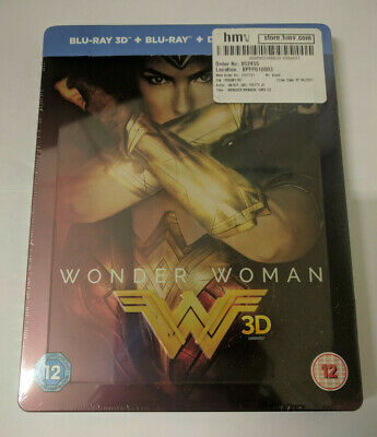 Wonder Woman (HMV Exclusive - Blu-ray 3D Steelbook w/ Slipcover, 2017)