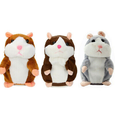 Adorable Interesting Speak Repeat Record Kids Toys Cute Hamster Mouse Plush Doll