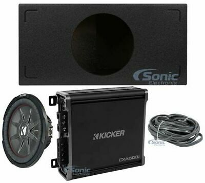 """Kicker 1000W Peak 500W RMS 12"""" Comp RT Dual 1 ohm Shallow Mount Subwoofer Pack"""