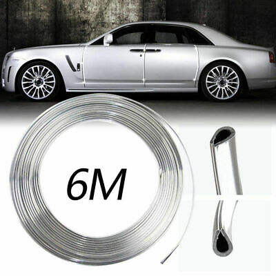 6 Meters Chrome Strip Car Door Scratch Protector Cover Edge Guard Mouldings Trim