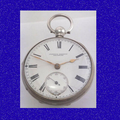 Stunning Antique Victorian Engrave Silver Keighley Fusee Lever Pocket Watch 1877
