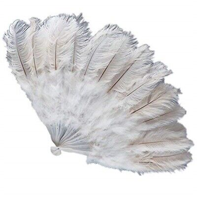 Creative Collection Giant Fan Extra Luxury White Ostrich Feathers For Burlesque