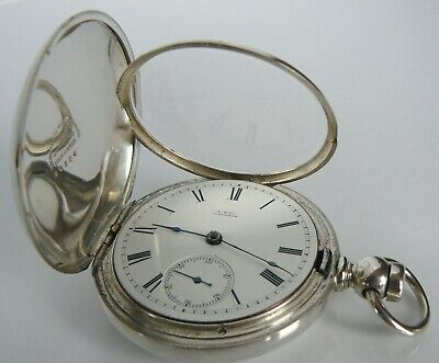 c.1884 WALTHAM MASS BARTLETT 15J S18 Model 1877 HINGED HUNTER POCKET WATCH RARE