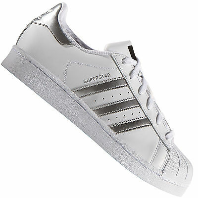 huge discount a0912 9f68b Adidas Originals Superstar Bianco Argento Aq3091 Sneaker da Uomo