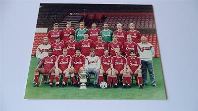 Liverpool Fc 1989 Squad & Fa Cup Kenny Dalglish Press Or Club Issued Photograph