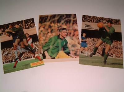 Chelsea Fc Legend Peter Bonetti Collection Of Three Magazine Posters