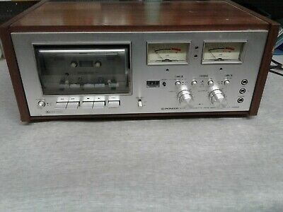 Vintage Pioneer CT-F8282 Stereo Cassette Tape Deck tested