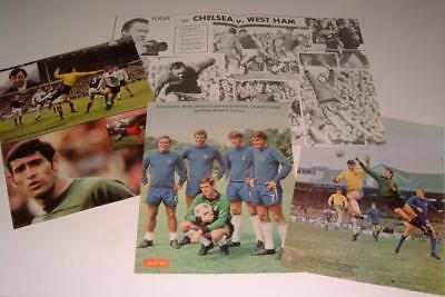 Chelsea Fc Legend Peter Bonetti Collection Of Four Magazine Posters Set Two