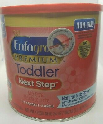 Enfagrow Premium Toddler Next Step Milk Drink 24 oz 1-3 Years 10/01/2019 NON GMO