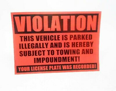 10 Violation - No Parking Stickers Lot of 3 Total 30