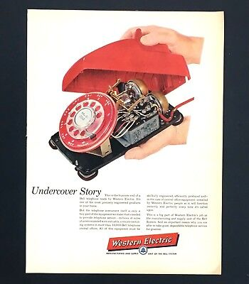 1957 Western Electric Telephone Advertisement Engineering Bell Service Print AD