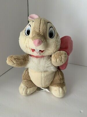 f80245296a6 Disney Store Miss Bunny Easter Exclusive Original Bunny Pink Bow 10 Inch  Plush