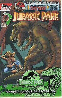 2 Topps Jurassic Park Collectors Edition #4 Aug 1993 NM Grade 9.6+ with one card