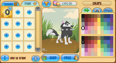 Animal Jam Rare Black Long Spiked Collar