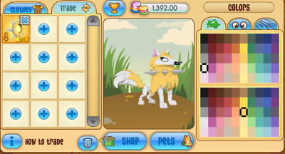 Animal Jam Yellow Long Spiked Collar