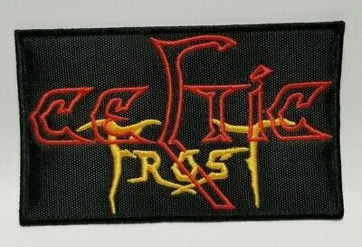 """CELTIC FROST Cut Out Dragon Embroidered Iron On Patch 4.1/""""//10cm"""