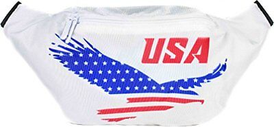 SoJourner American Flag Fanny Pack - USA, 4th Fourth of (USA American Eagle)