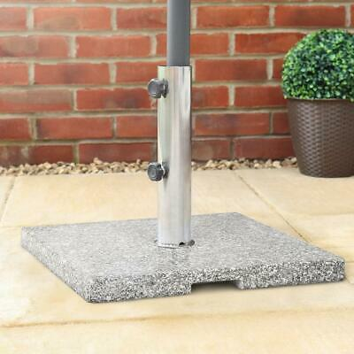 Wido 25KG GRANITE PARASOL BASE GARDEN UMBRELLA FURNITURE STAND SECURE RESTAURANT