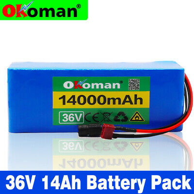 10P4S  36v 14Ah rechargeable battery pack li-ion bicycle 500W E BIke electric