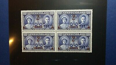 Newfoundland # 250 Reduced Price Bk of 4 mnh 2c on 5c Royal Visit CV $12
