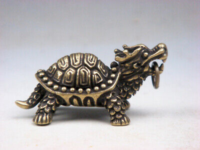 Fine Brass Highly Detail Crafted Sculpture Monster Dragon Turtle #05011905