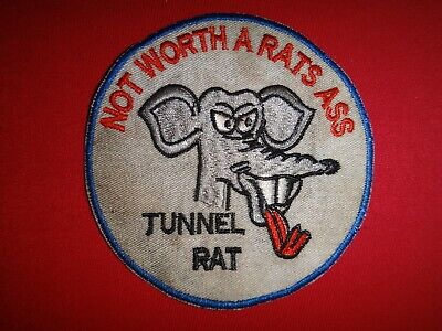 ef5df16a Vietnam War Patch US Army TUNNEL RAT Special Combat Unit NOT WORTH A RAT'S  ASS