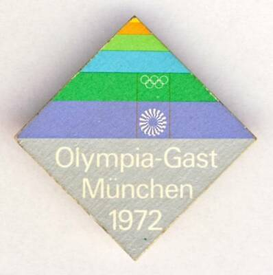1972 MUNICH Olympics GUEST pin BADGE Olympic Games MUNCHEN Germany