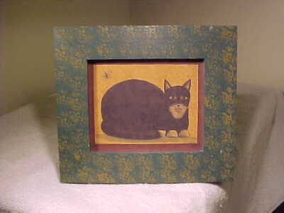Black Cat Theorem Print By Hetherly Hale In Sponge Decorated Frame