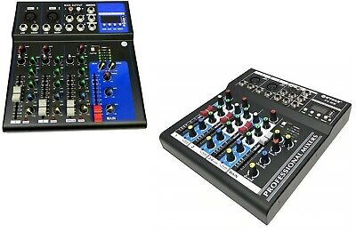MIXER AUDIO PROFESSIONALE 4 CANALI USB CON ECHO-DELAY dj karaoke pianobar