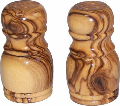 Handcrafted olive wood Salt and Pepper shakers ( 3 Inches tall ) - Asfour Outlet