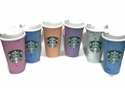 Starbucks Reusable Hot & Cold Cup Collection Pack Of 6 W/Lids 16 oz Summer 2019
