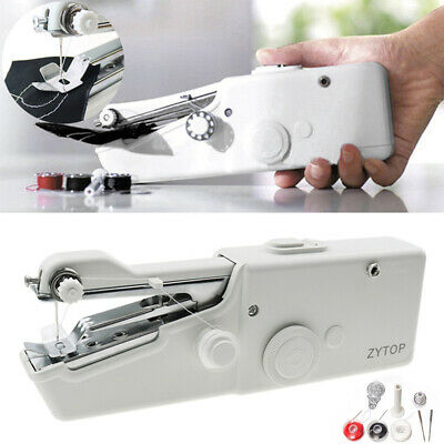 Mini Portable Handheld Cordless Sewing Machine Hand Held Stitch Home Clothes UK