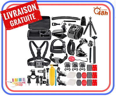 Kit 50 Accessoires GoPro Hero7 6 Session 5 4 3+ 2 1 Sport Video Camera D'action