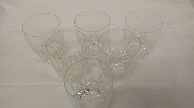 Set of 6 Stuart Crystal Glengarry pattern 10 oz, barrel shaped,  flat tumblers