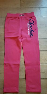 Girls age 9-10years bnwot cerise pink jogging trousers fleece lined