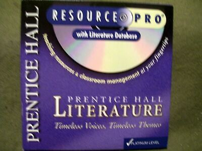 PRENTICE HALL LITERATURE IText Interactive Text On CD ROM