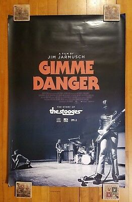GIMME DANGER 2016 27x40 Original Movie Poster 1Sh Double-Sided Punk Rock & BONUS