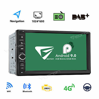 SALE Android 9.0 WiFi 2Din 7in HD Quad Core GPS Navi Car Stereo MP5 Player Radio