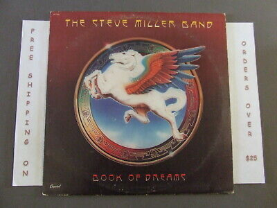 The Steve Miller Band Book Of Dreams Lp W/ Lyric Sleeve & Merch Form